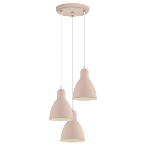 EGLO 49084 - Hanglamp aan koord PRIDDY-P 3xE27/60W/230V