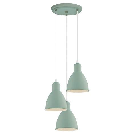 EGLO 49095 - Hanglamp aan koord PRIDDY-P 3xE27/60W/230V