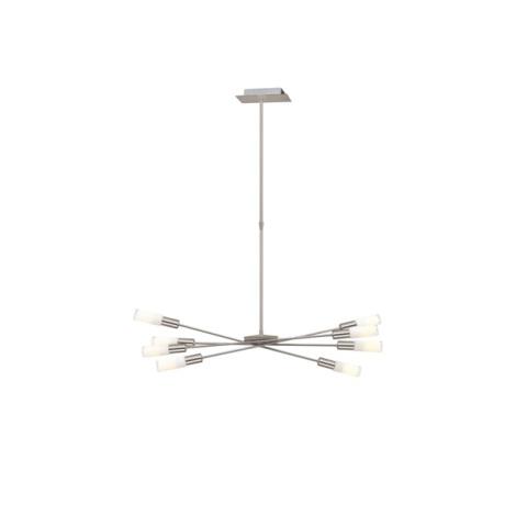 EGLO 87976 - Kroonluchter SAMANTA 8xE14/9W mat nikkel/wit