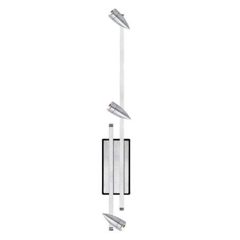 EGLO 88352 - Spotlight PENFORM 3xMR8+C G4/20W aluminium
