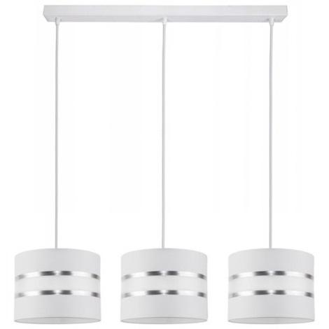 Hanglamp aan een koord CORAL 3xE27/60W/230V wit