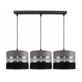 Hanglamp aan een koord CORAL 3xE27/60W/230V zwart en grijs