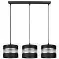 Hanglamp aan een koord CORAL 3xE27/60W/230V zwart