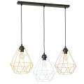 Hanglamp aan koord BASKET 3xE27/60W/230V
