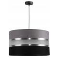 Hanglamp aan koord CORAL 1xE27/60W/230V zwart grijs