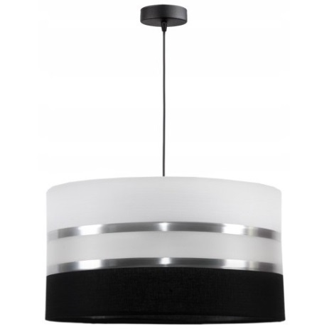 Hanglamp aan koord CORAL 1xE27/60W/230V zwart-wit