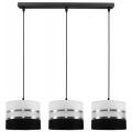 Hanglamp aan koord CORAL 3xE27/60W/230V zwart-wit