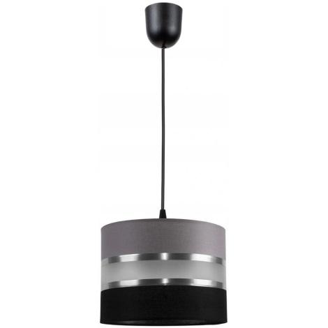 Hanglamp aan koord CORAL S 1xE27/60W/230V zwart grijs