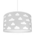 Hanglamp kinderkamer CLOUDS GREY 1xE27/60W/230V