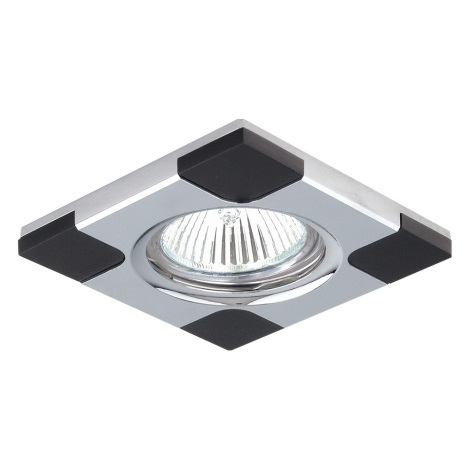 Inbouwlamp DOWNLIGHT 1xGU10/50W chroom / wenge