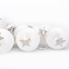 LED Kerst lichtketting bollen 1 m 10xLED/2xAA