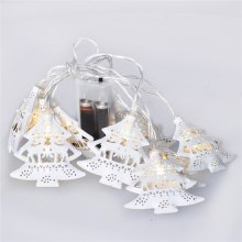 LED Kerst lichtketting boompjes 1 m 10xLED/2xAA