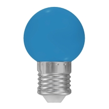 LED Lamp E27/1W/230V blauw