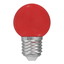LED Lamp E27/1W/230V rood
