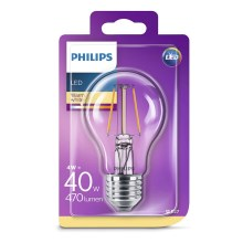 LED Lamp Philips E27/4W/230V 2700K