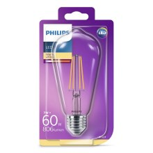 LED Lamp VINTAGE Philips ST64 E27/7W/230V 2700K