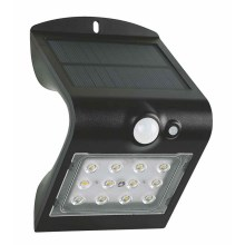 LED Solar wandlamp met sensor LED/1,5W IP65
