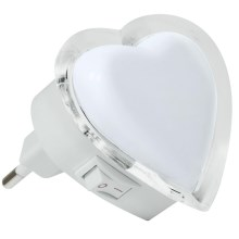 LED Stekkernachtlamp 0,4W/230V wit hart