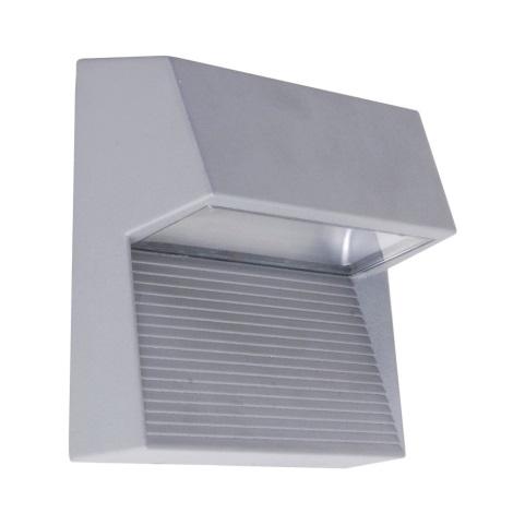 LED-wandlamp voor buiten RADIUS 3xLED/1W zilver IP65