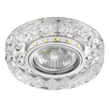 Luxera 71074 - Inbouwlamp CRYSTALS 1xGU10/50W/230V + LED STRIPE