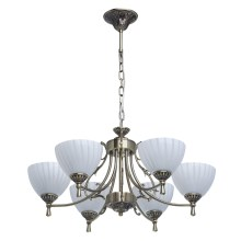 MW-LIGHT - Hanglamp aan ketting CLASSIC 6xE14/60W/230V