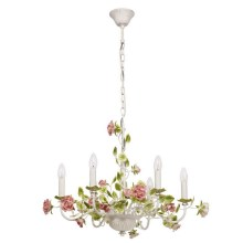 MW-LIGHT - Hanglamp aan ketting FLORA PROVENCE 6xE14/40W/230V