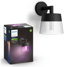 Philips 17461/30/P7 - LED RGB Wandlamp voor buiten HUE ATTRACT LED/8W/230V IP44