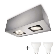 Philips 56232/48/PN - LED Spotlamp TEMPO 2xGU10/6W/230V