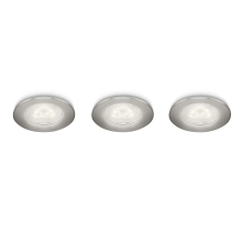 Philips 59100/17/16 - SET 3x LED Inbouwspot SCEPTRUM 3xLED/3W/230V