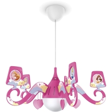 Philips 71757/28/16 - Hanglamp kinderkamer DISNEY PRINCESS 1xE27/15W/230V