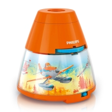 Philips 71769/53/16 - LED Nachtlamp en projector DISNEY PLANES LED/0,1W/3xAA