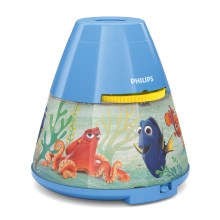 Philips 71769/90/16 - LED Nachtlamp en projector DISNEY DORY LED/0,1W/3xAAA