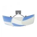 Plafondlamp ASPIS 2xE27/100W/230V wit/blauw
