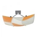 Plafondlamp ASPIS 2xE27/100W/230V wit/oranje