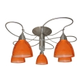 Plafonnière CARRAT mat chroom/chroom/oranje