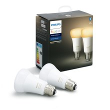 SET 2x LED Lamp dimbaar Philips HUE WHITE AMBIANCE E27/8,5W/230V
