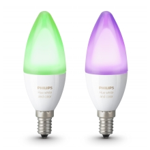 SET 2x LED RGB Lamp dimbaar Philips HUE WHITE AND COLOR AMBIANCE E14/6W/230V