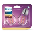 SET 2xLED Lamp VINTAGE E27/4W/230V 2700K - Philips