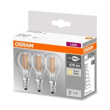 SET 3x LED Lamp VINTAGE P40 E14/4W/230V 2700K - Osram