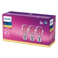 SET 3x LED Lamp VINTAGE Philips E27/4,3W/230V 2700K