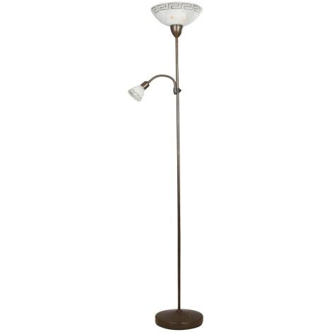 Staande lamp Pompez 1xE27/100W + 1xE14/40W