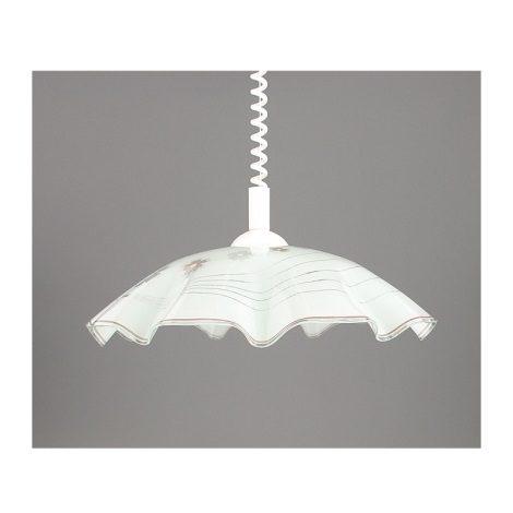 Trekpendel hanglamp LYRA GLASS 1xE27/60W