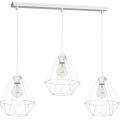 Witte Hanglamp BASKET 3x E27 / 60W / 230V